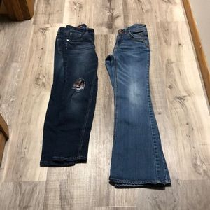 Popped jeans